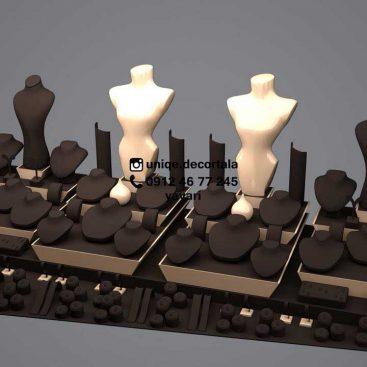 جواهر فروشی ویترین طلافروشی مدل تکچین