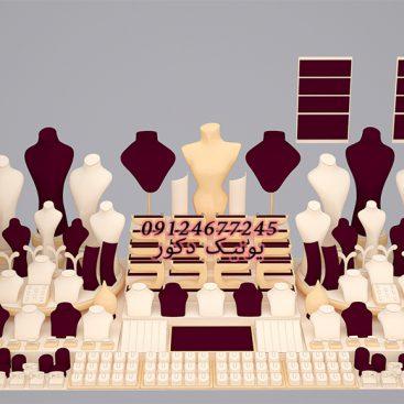کف چین دکور طلا مانکن طلافروشی ویترین جواهر ماکت طلا فروشی سفارش ساخت مانکن پیشخوان طلافروشی