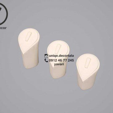 پایه انگشتری قاب انگشتر طلا مدل قلبی جلو ویترین