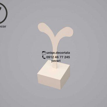 پایه گوشواره مدل تکی نخل مربع