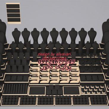 دکور طلا مانکن طلافروشی ویترین طلا و جواهر ماکت طلا فروشی سفارش ساخت مانکن پیشخوان طلافروشی