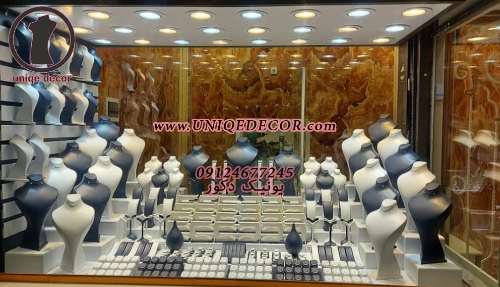 دکوراسیون طلا فروشی کفه ویترین طلا